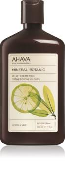 Ahava Mineral Botanic Lemon & Sage jemný sprchový krém