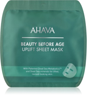 Ahava Beauty Before Age sheet maska s učinkom zaglađivanja s lifting učinkom