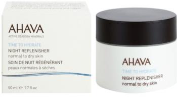 Ahava Time To Hydrate regenerierende Nachtcreme für normale und trockene Haut