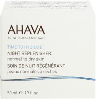 Ahava Time To Hydrate noćna krema za regeneraciju za normalnu i suhu kožu lica