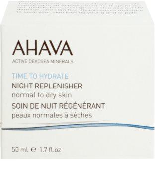 Ahava Time To Hydrate nočna regeneracijska krema za normalno do suho kožo