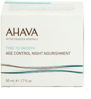 Ahava Time To Smooth noční výživný krém s protivráskovým účinkem
