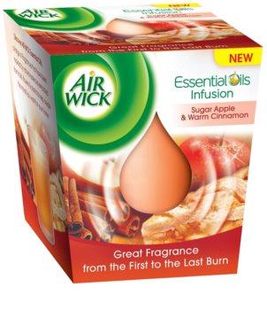 Air Wick Essential Oil Sugar Apple & Warm Cinnamon vela perfumada  105 g