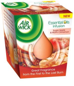Air Wick Essential Oil Sugar Apple & Warm Cinnamon vonná sviečka 105 g
