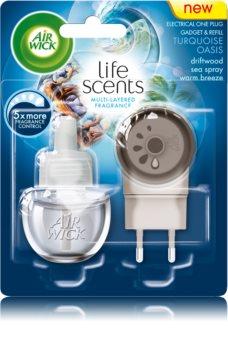 Air Wick Life Scents Turquoise Oasis diffusore elettrico per ambienti 19 ml con ricarica