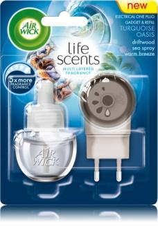 Air Wick Life Scents Turquoise Oasis elektryczny odświeżacz powietrza 19 ml z napełnieniem