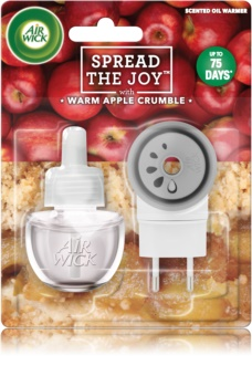 Air Wick Spread the Joy Warm Apple Crumble diffuseur électrique de parfum d'ambiance 19 ml avec recharge