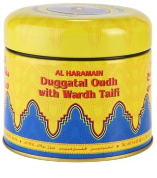 Al Haramain Duggatal Oudh with Wardh Taifi tamjan 50 g