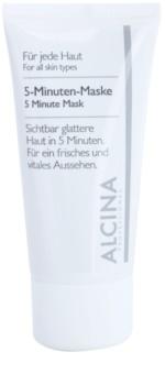 Alcina For All Skin Types mascarilla de 5 minutos para una piel de aspecto más fresco y juvenil