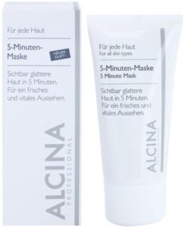 Alcina For All Skin Types 5minútová maska pre svieži vzhľad pleti