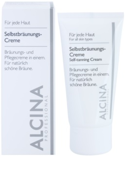Alcina For All Skin Types crème auto-bronzante visage