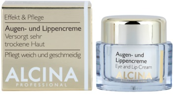 Alcina Effective Care krém na oči a rty s vyhlazujícím efektem