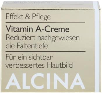 Alcina Effective Care arckrém A vitaminnal a hosszú távú ráncok csökkentésére