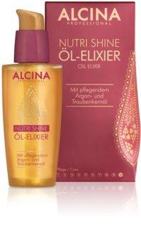 Alcina Nutri Shine óleo para cabelo brilhante e elegante