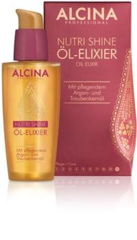 Alcina Nutri Shine еліксир на основі олійки для блискучого та гладкого волосся