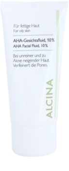 Alcina For Oily Skin флюїд для шкіри з вмістом AHA-кислот 10%