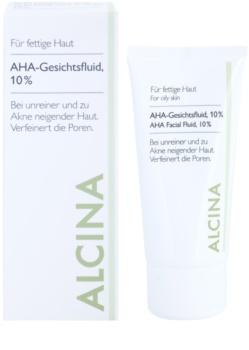 Alcina For Oily Skin fluide visage avec AHA 10%