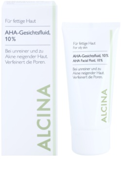 Alcina For Oily Skin pleťový fluid s AHA kyselinami 10%