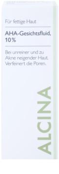 Alcina For Oily Skin Gesichtsfluid mit AHA Säuren 10%