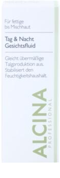 Alcina For Oily Skin fluido de dia e noite para regular a produção de  sebo
