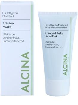 Alcina For Oily Skin masque aux herbes anti-brillance et pores dilatés