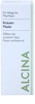 Alcina For Oily Skin maschera alle erbe contro la pelle lucida e i pori dilatati