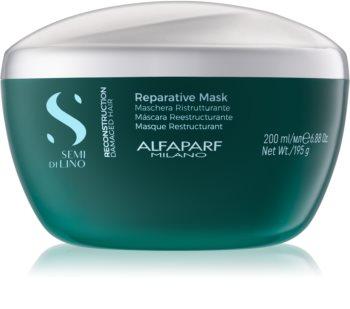 Alfaparf Milano Semi di Lino Reconstruction Reparative Maske für die Haare für beschädigtes Haar