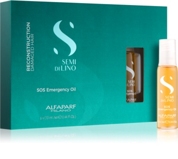 Alfaparf Milano Semi di Lino Reconstruction SOS Emergency Oil tratament pentru regenerarea părului deteriorat in fiole
