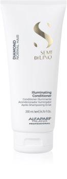 Alfaparf Milano Semi di Lino Diamond Illuminating après-shampoing éclaircissant pour des cheveux éclatants et faciles à coiffer