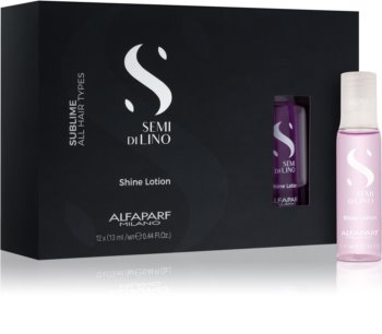 Alfaparf Milano Semi di Lino Sublime Rescructuring Multiplier Reconstructing Treatment For Damaged Hair In Ampoules