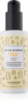 Alfaparf Milano Style Stories The Range Pre-Styling haj kifújását meggyorsító védőkrém dúsabb hatásért