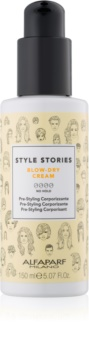Alfaparf Milano Style Stories The Range Pre-Styling Schützende Creme für schnelleres Föhnen für mehr Volumen