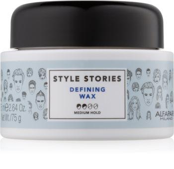 Alfaparf Milano Style Stories The Range Paste hajformázó wax-paszta közepes fixálás