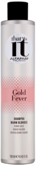 Alfaparf Milano That s it Gold Fever šampón pre teplé odtiene blond
