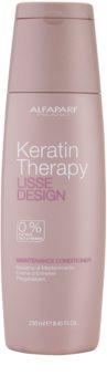 Alfaparf Milano Lisse Design Keratin Therapy vyživující kondicionér bez sulfátů a parabenů