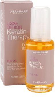 Alfaparf Milano Lisse Design Keratin Therapy vyživující olej pro všechny typy vlasů