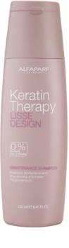 Alfaparf Milano Lisse Design Keratin Therapy champú limpiador suave sin sulfatos y parabenos