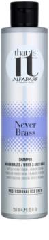 Alfaparf Milano That s it Never Brass Shampoo für weiße und graue Haare