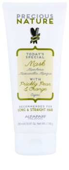 Alfaparf Milano Precious Nature Prickly Pear & Orange Gladmakende Masker  tegen Kroes Haar