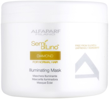Alfaparf Milano Semi di Lino Diamond Illuminating maschera per la brillantezza