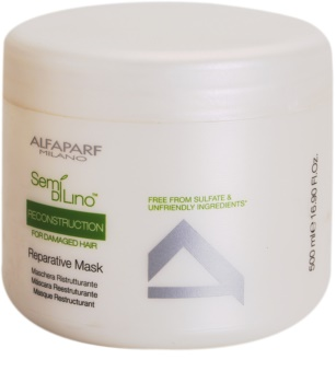 Alfaparf Milano Semi di Lino Reconstruction for Damaged Hair regenererende sheet mask voor Beschadigd Haar
