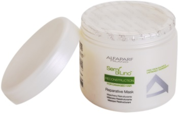 Alfaparf Milano Semi di Lino Reconstruction for Damaged Hair regenererende sheet mask voor Beschadigd Haar