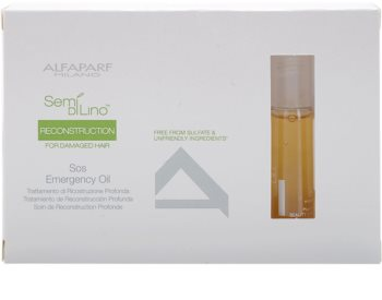 Alfaparf Milano Semi di Lino Reconstruction for Damaged Hair regeneráló olaj a károsult hajra