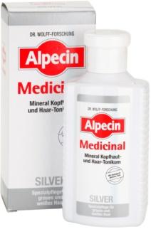 Alpecin Medicinal Silver tonik do włosów neutralizujący żółtawe odcienie