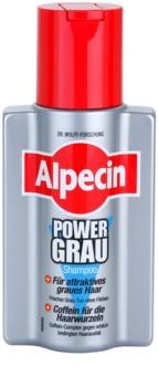 Alpecin Power Grau σαμπουάν για τόνωση των γκρίζων αποχρώσεων των μαλλιών