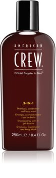 American Crew Hair & Body 3-IN-1 champô, condicionador e gel de duche 3 em 1 para homens