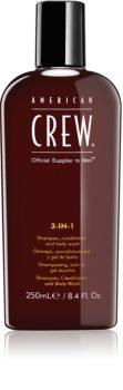 American Crew Hair & Body 3-IN-1 Shampoo, Conditioner und Duschgel 3in1 für Herren