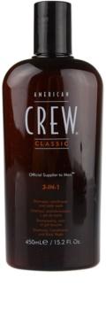 American Crew Classic sampon, balsam si gel de dus 3in1 pentru barbati