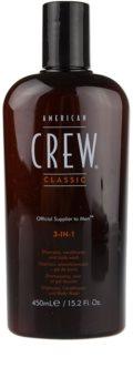 American Crew Classic šampon, balzam in gel za prhanje 3v1 za moške