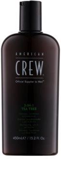American Crew Tea Tree shampoo, balsamo e gel doccia 3 in 1 per uomo